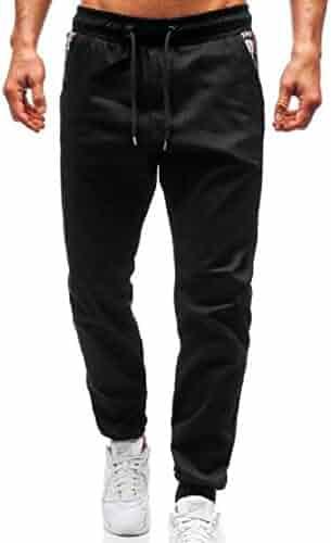 Ji88pX@ Fitness Leggings for Mens Slim German Shepherd American Flag Cotton Long Sweatpants for Youth