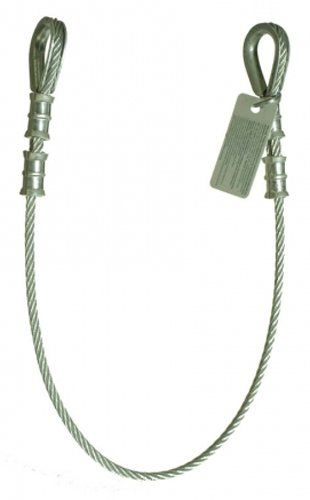Guardian Fall Protection 10402 6-Foot Galvanized Cable Choker Anchor with Thimble Ends by Guardian Fall Protection (Image #1)