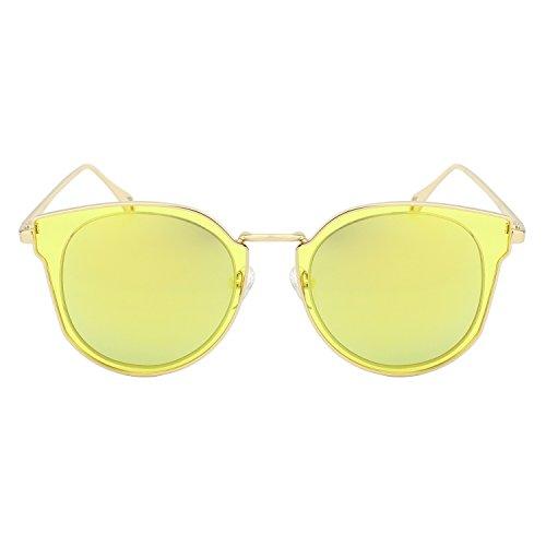 CGID MJ86 Mode Femme Double Cercle UV400 Lentille Miroir Polarisées Lunettes de soleil 3b5O3