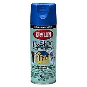 Krylon K02329007 Fusion For Plastic Aerosol Spray Paint, 12-Ounce, Patriotic Blue