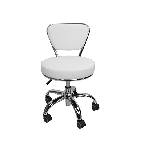 MAYAKOBA Salon Nail Pedicure Stool Pedicure Chair DAYTON WHITE Pneumatic, Adjustable, Rolling Salon Furniture & Equipment