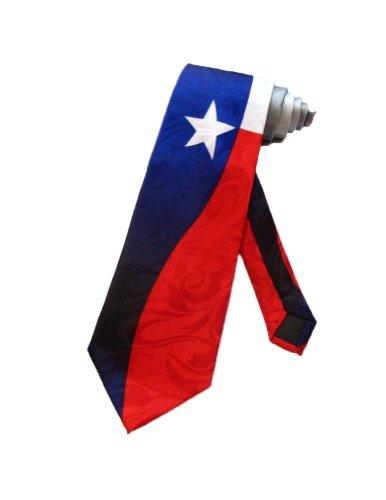 Steven Harris Mens Texas State Flag Necktie - Navy Blue - One Size Neck Tie