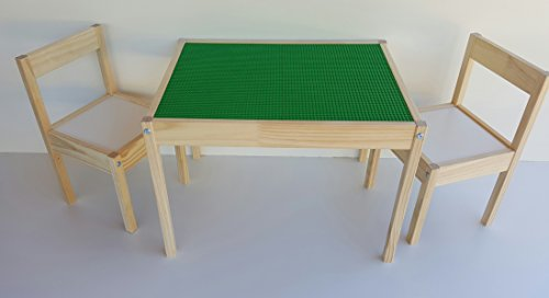 SCS Custom Woodworks Special Edition Lego Table and Chairs by SCS Custom Woodworks