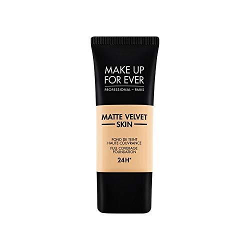 MAKE UP FOR EVER Matte Velvet Skin Full Coverage Foundation Y235 - IVORY BEIGE 1.01 oz/ 30 mL (Best Foundation Ever For Oily Skin)