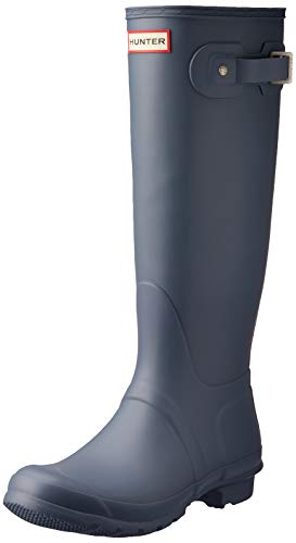 Hunter Women's Original Tall Rain Boots Gull Grey 8 M US -