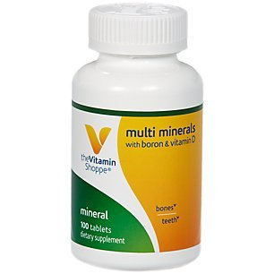 Multi Minerals with Boron Vitamin D 100 Tablets by The Vitamin Shoppe Review