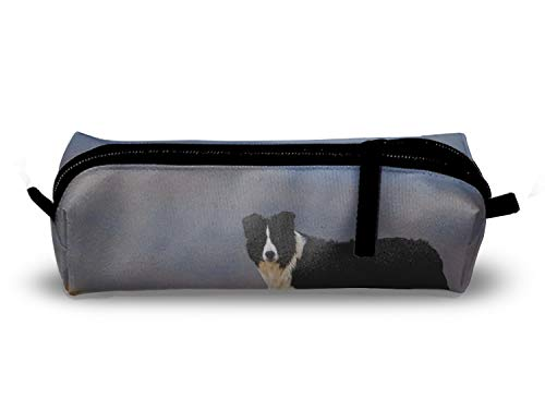 Animal Border Collie Dogs Charm School Pencil Pouch Case with Creative 3D Printing ()