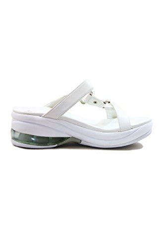 Fornarina Leather Flip-Flops with Wedge Heel mod. PEFUP5209WC White EU40