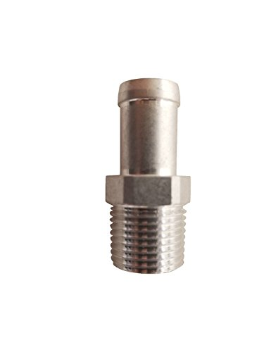 3/8 Male NPT To 1/2 Hose Barb Aluminum Adapter Fitting ()