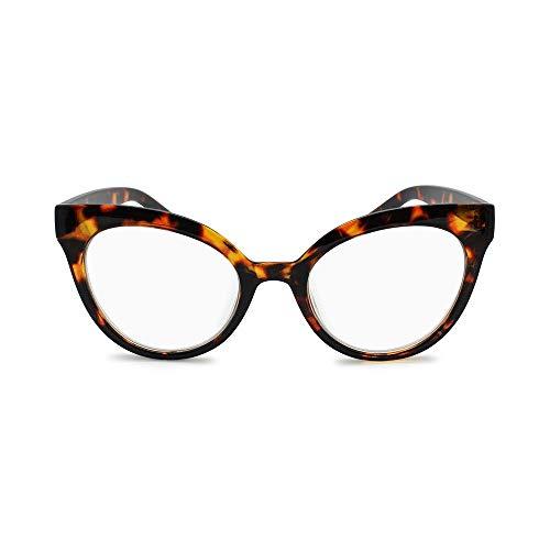 2SeeLife- Oversized Reading Glasses for Women 50's Fashion Large Eyeglasses Frame Horned Cat Eye Women's Readers- Top Seller from 2SeeLife