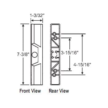 Stb Sliding Glass Patio Door Outside Pull For Internal