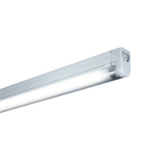 Jesco Lighting SG5HO-24/64-W Sleek Plus Classic Grounded 24-Watt High Output T5 Light Fixture, 6400K Color, White Finish