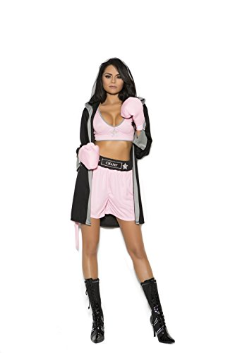 Zabeanco Sexy Woman's Boxer Prizefighter Role Play Halloween Costume (Small) -