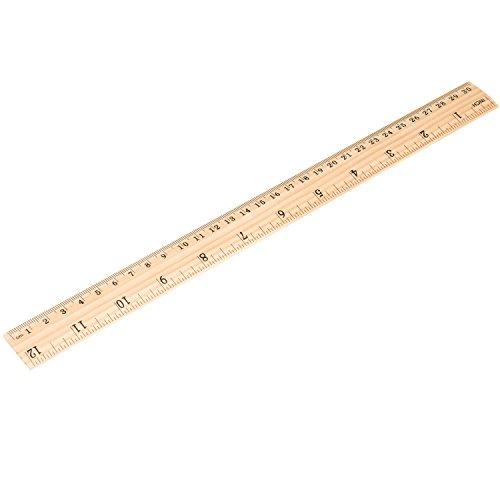 eborder 16 pack 12 inch wood ruler student rulers wooden