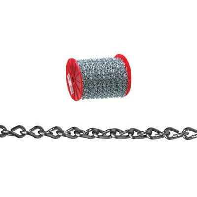 Campbell Chain Double Steel Jack Chain 16 Trade Size Zinc Plated 200' / Reel