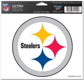 """NFL Pittsburgh Steelers 41142071 Multi-Use Colored Decal, 5"""""""
