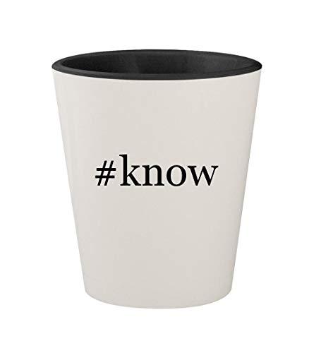 #know - Ceramic Hashtag White Outer & Black Inner 1.5oz Shot Glass