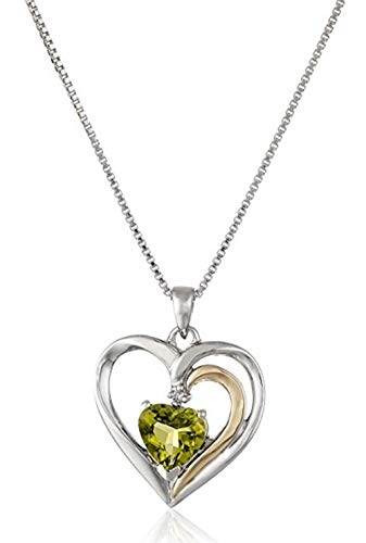 Sterling Silver Heart Pendant Necklace 18