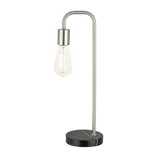 Catalina Lighting 21889-001 Modern Black Marble Table Lamp, LED bulb Included, Brushed Nickel ()