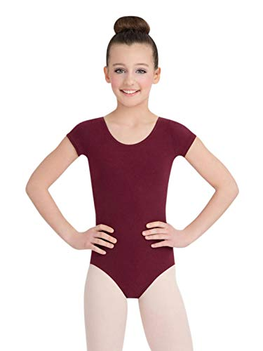 Capezio Short Sleeve Leotard - Girls - Size Child Large, Burgundy