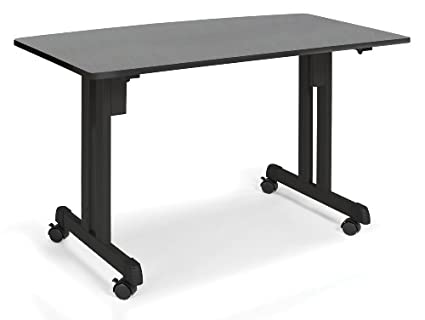 OFM 55111-GRPH Multiuse Table Graphite with Black Frame, 24 by 48-Inch
