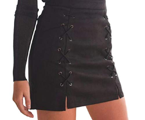 Price comparison product image (Large, Black)pleather front skinny coloured low waist tulle near color that down to female styles wasted sweater colour zip checkered top tennis shirt pockets outfits juniors sale outfit flare me but