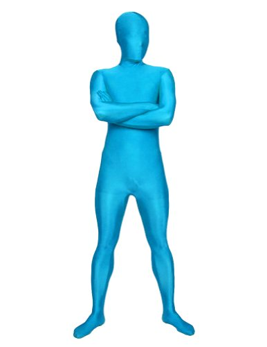 SecondSkin Men's Full Body Spandex/Lycra Suit, Pacific Blue, X-Large (Purple Morphsuit)