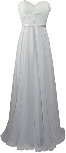 Sweetheart Dresses Women's Prom Chiffon Silver Evening Fanciest Long Bridesmaid Gowns ZqwIpRRS