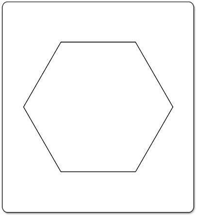B/&W Sizzix Bigz Troquel Hex/ágono 1 3//4 lados