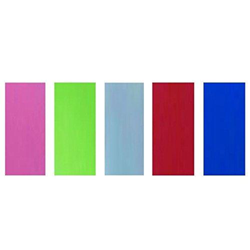 ThreeBulls 250pcs 5 Color 33mm PVC Heat Shrink Tubing Tube For 20700 Battery Shrink Film - Colored Plastic Tubing
