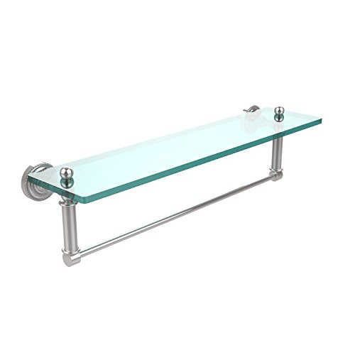 Allied Brass DT-1TB/22-PC Glass Shelf with Towel Bar, 22-Inch x 5-Inch by Allied Brass