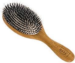 (Brush - Large Oval Cushion Wild Boar/Nylon Bristle Wood Handle Bass Brushes 1 Brush)