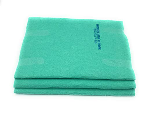 Original Germany Shammy Floor Cloth 180 grams,Super Absorbent,20'' x 27'',Made in West Germany,100% Rayon/Viscose,Green. (3)