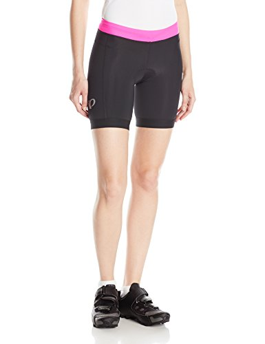 Pearl iZUMi Women's Select Pursuit Tri Shorts, Black/Screaming Pink, ()