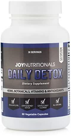 Daily Detox - Advanced Liver, Kidney and Cellular Support, Detox & Cleanse Supplement. Non-Laxative, Senna Free. All Natural, Non GMO with Milk Thistle, Ashwagandha, Bacopa, Schisandra & More.
