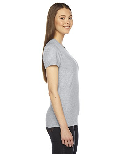 American Apparel - Fine Jersey Short Sleeve Damen T, Medium, Heather Grey