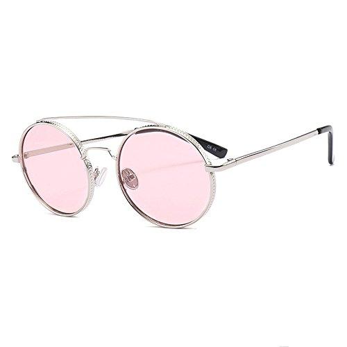 Pink De Sexuelles Résistantes De Lunettes Soleil Douerye UV Tendances Lunettes Aux Lunettes De Rondes Soleil 6xwBAB5Z