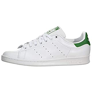 adidas Originals Women's Stan Smith Sneaker, Footwear White/Footwear White/Green, 8.5