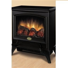 MyEasyShopping Compact Stove Style Electric Fireplace Space Heater in Black Heater Space Fireplace Electric Portable Infrared Black Stove Room Quartz Home