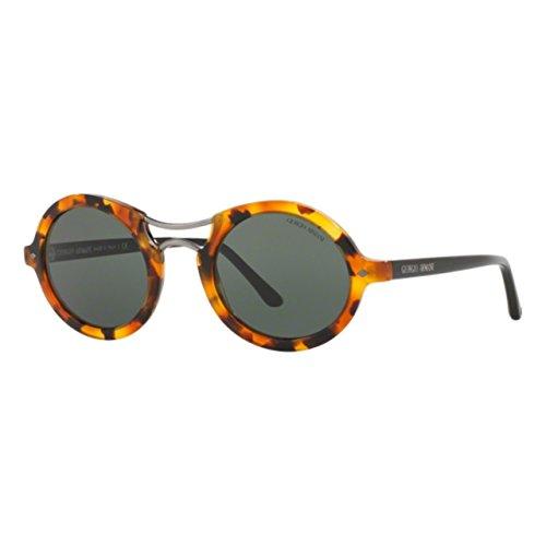 Giorgio Armani AR8072 - 519153 Sunglasses Striped Havana w/ Dark Brown Lens 48mm -