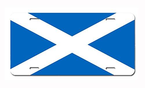 Carpe Diem Designs Scottish (St. Andrew) Flag License Plate, Made in The U.S.A.