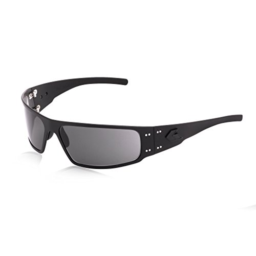 - Gatorz Eyewear, Magnum Model, Aluminum Frame Sunglasses - Blackout Tactical Style/ Smoked Lens