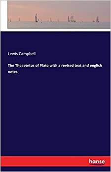 Book The Theaetetus of Plato with a revised text and english notes