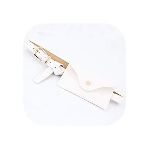 Metal Pin Buckle Waist Pack Belt For Dress Belt Bag Pocket Decorative Waistband For Women Pu Wide Belt,White Gold,105Cm (Best Balmain Replica Jeans)