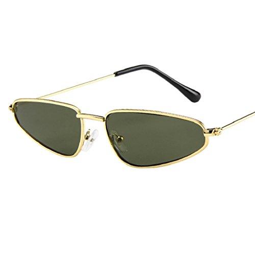 Malloom Sunglasses Vintage Lunettes Femmes Petit Cadre Eye Vert de Retro Cat soleil Dames x6U6npPq
