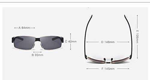diseñador New de Sol Gafas de lan Hombres Sol Gafas polarizadas Sol de Gafas Sol Shuo de Gafas Gafas Color Gafas Brown Golden Sol de del los de OqvaBw