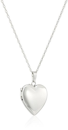 14k Gold Polished Heart Locket