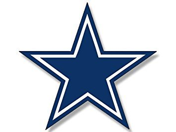 MAGNET Blue Star Dallas Cowboys Colors Magnet(logo big dak fan love) 3.5 x 4 inch ()