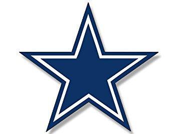 MAGNET Blue Star Dallas Cowboys Colors Magnet(logo big dak fan love) 3.5 x 4 inch ()