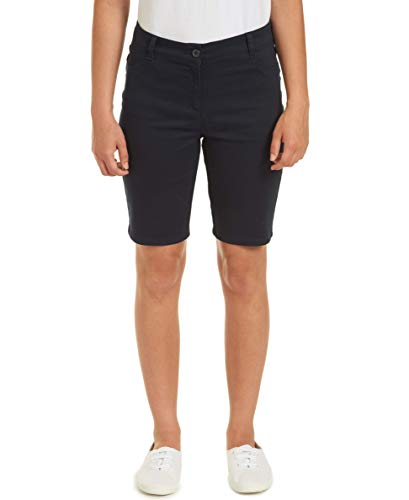 (Chaps Womens Uniform Stretch Bermuda Short, Navy, 7)